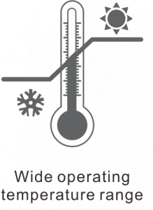 wide operational temperature range icon