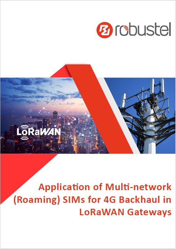 Cover - Application of Multi-network Roaming SIMs for 4G Backhaul in LoRaWAN Gateways